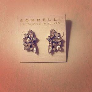 Large Sorrelli crystal stud earrings